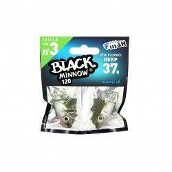 Black Minnow Nº3 Jig heard 2 Udes.Deep - 37g - Kaki