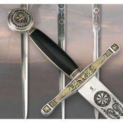 Espada Excalibur negro/oro