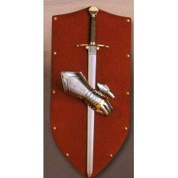 Panoplia Rojo C/Espada y Guantelete