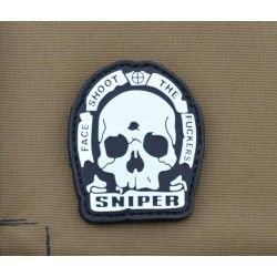 PARCHE PVC SNIPER FACE SHOOT THE FUCKERS