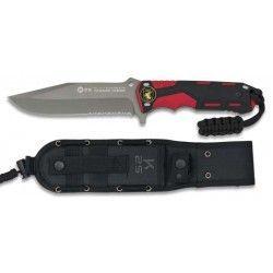 Cuchillo rojo/negro. hoja: 13.5cm