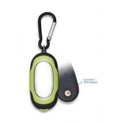Linterna verde- negra con mosquetón