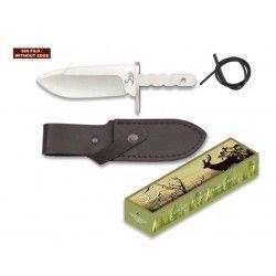 Cuchillo espiga. Total 20.5 cm. C/Funda