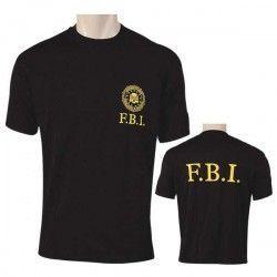 Camiseta M/C F.B.I.Color:NEGRA