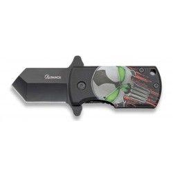 Navaja Albainox 3D calavera. Hoja: 4 cm