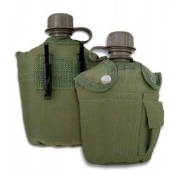 Cantimplora PVC.Verde. 900 ml