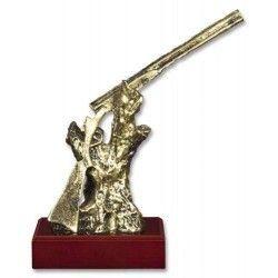 Trofeo resina ESCOPETA con peana (23.1